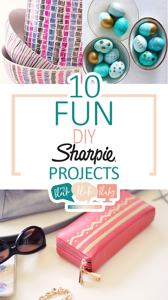 10 Fun DIY Sharpie Projects| Sharpie Projects, DIY Sharpie Projects, Things to Do With Sharpies, How to Craft With Sharpies, Crafting With Sharpies, Easy Crafts, One Day DIY Projects