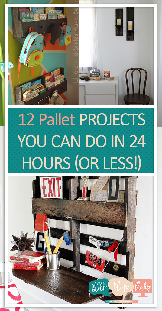 12 Pallet Projects You Can Do In 24 Hours (Or Less!) Pallet Projects, Things to Do With Pallets, Easy Pallet Projects, DIY Home, DIY Home Decor, DIY Home Projects, Simple Projects for the Home, Home Stuff, Fast DIY Projects #palletprojects #diyhome #diyhomedecor #repurposeprojects #diypalletprojects