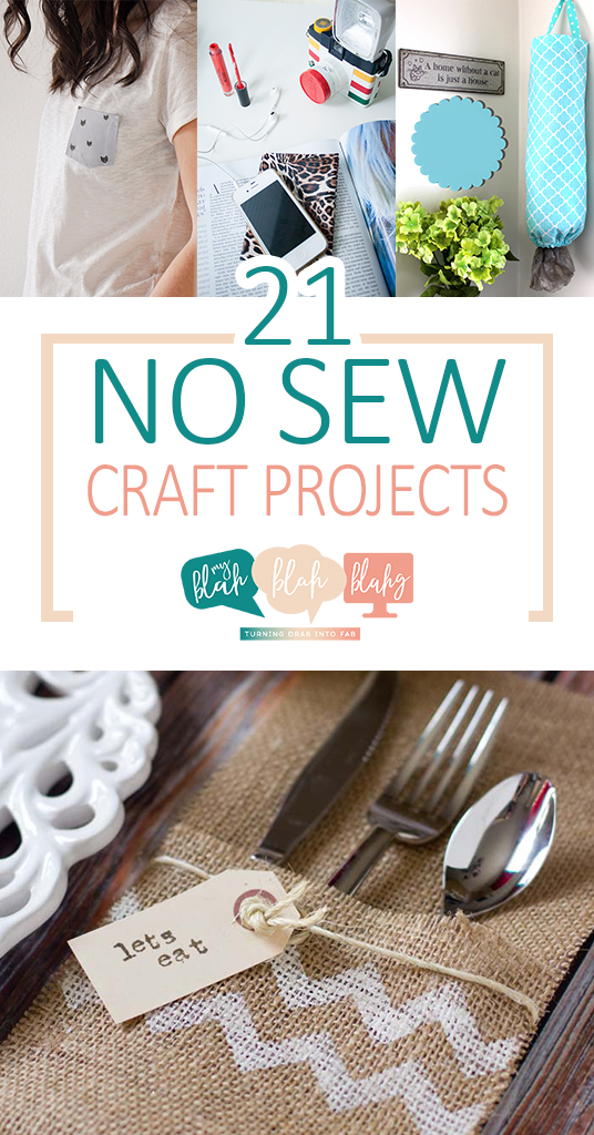 21 No Sew Craft Projects  No Sew Craft Projects, Easy Craft Projects, Easy No Sew Crafts, Craft Hacks, Crafting, Crafting Tips and Tricks, Sewing, Sewing Projects, Easy Sewing Projects, Fast Sewing Projects