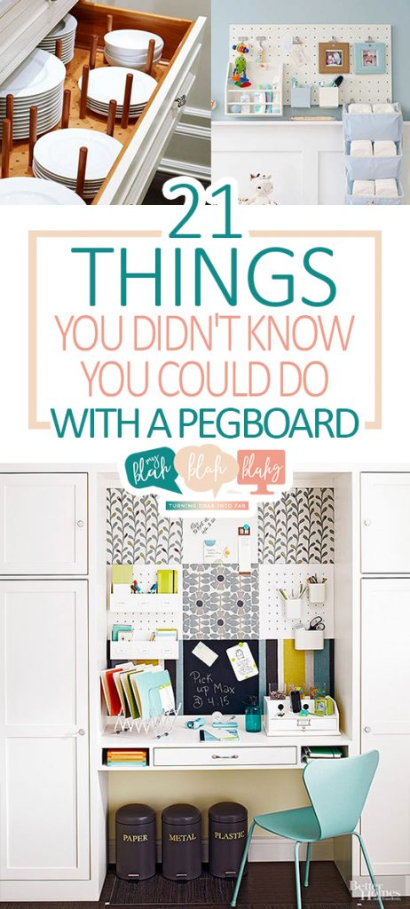 21 Things You Didn't Know You Could Do With A Pegboard| Pegboard, Pegboard Organization Tips and Tricks, How to Organize With Pegboards, Things to Do With Pegboards, Home Organization, Home Organization Hacks, DIY Home, DIY Home Organization