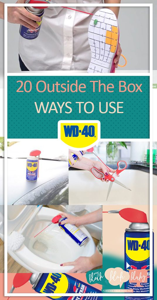 20 Outside The Box Ways to Use WD-40. How to Use WD-40, Cleaning Hacks, Home Cleaning Hacks, Clean Your Home, Uses for WD-40, Cleaning Tips and Tricks. #cleaning #cleanhome #cleanhometipsandtricks #cleanhomehacks #homeorganization