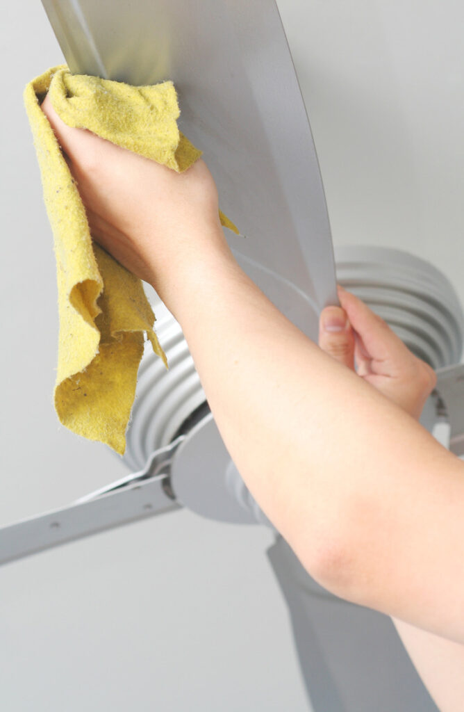 Sometimes controlling the dust seems like an impossible job, but with these cleaning tips and tricks, we are going to show you how to control house dust once and for all!  Keep your fan spick and span to help it from spreading dust around.