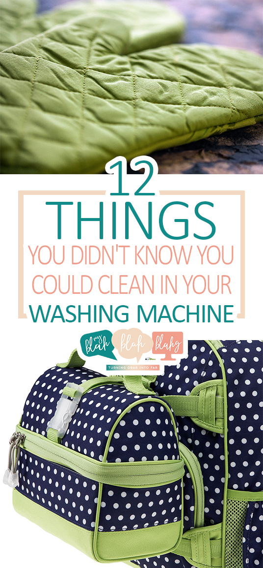 12 Things You Didn't Know You Could Clean In Your Washing Machine| Washing Machine, Washing Machine Hacks, Clean House, How to Clean Stuff In the Washing Machine, Clean Your Washing Machine