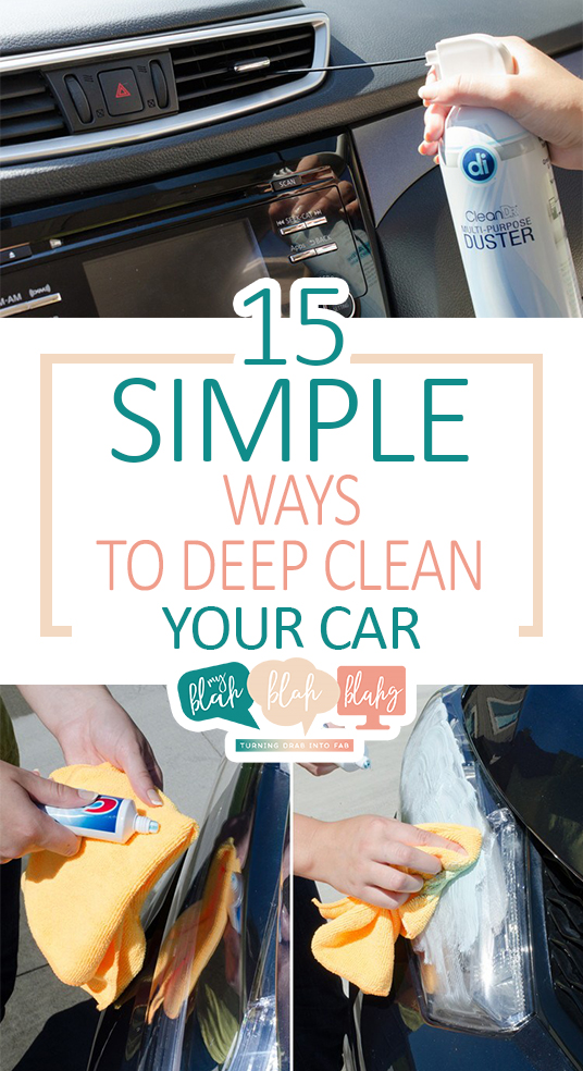 15 Simple Ways to Deep Clean Your Car| Cleaning, How to Clean Your Car, Easily Clean Your Car, Car Cleaning Hacks and Tricks, Cleaning 101, Easy Cleaning, Car Cleaning 101, Clutter Free Car