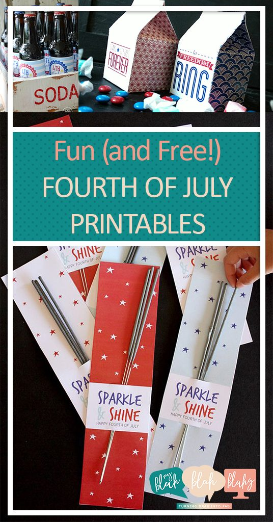 Fun (and Free!) Fourth of July Printables| Printables, Free Printbales, Fourth of July Printables, Holiday Home Decor, Free Holiday Printables, Holiday Printables for Free, Fourth of July Fun, Fun Fourth of July Tips and Tricks