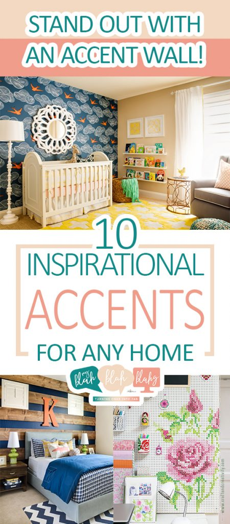 Stand Out With an Accent Wall! 10 Inspirational Accents for Any Home| Accent Wall, DIY Accent Wall, DIY Home Decor, Home Decor Hacks, Painted Wall Hacks, Cool Accent Walls, DIY Home, DIY Home Decor