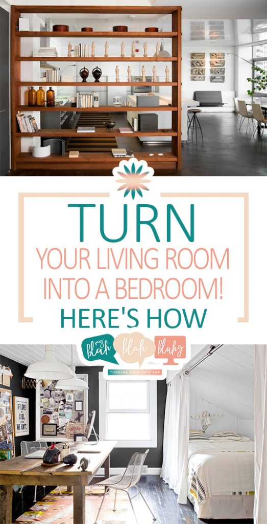 Turn Your Living Room Into A Bedroom: Here's How  Living Room, Living Room Hacks, How to Redecorate Your Living Room, Redecorate Your Living Room, Living Room Decor, Living Room Decor and DIYs, Bedroom DIYs, Popular Pin