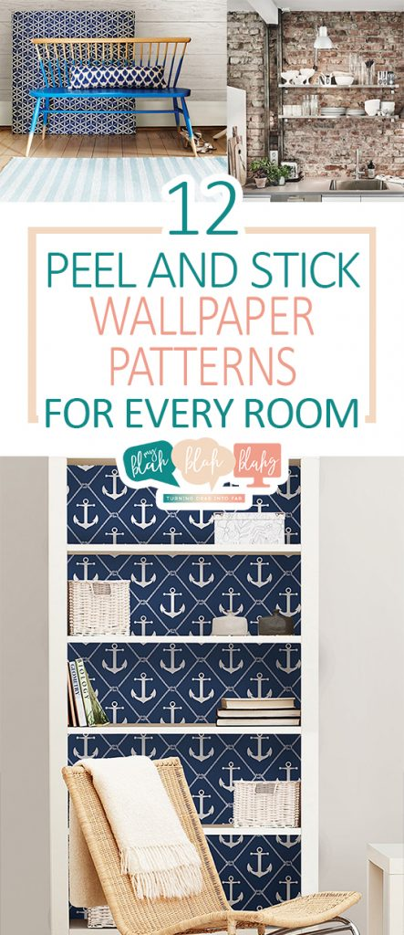 12 Peel and Stick Wallpaper Patterns For Every Room| Wallpaper Patterns, DIY Wallpaper Patterns, Wallpaper Patterns for Every Room, DIY Wall Paper, Peel and Stick Wall Paper, Peel and Stick Wallpaper Projects, Popular Pin