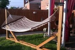 Build Your Own Hammock Stand| How to Build Your Own Hammock Stand, DIY Hammock Stand, DIY Hammock Stand Projects, DIY Home, DIY Furniture, DIY Furniture Projects, Popular Pin