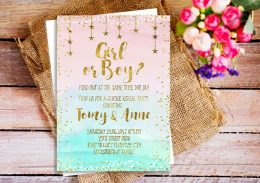 Gender Reveal Party Invites, Gender Reveal Parties, Gender Reveal DIYs, Party Ideas, Printable Gender Reveal Party Invites, DIY Party Invites, Popular Pin