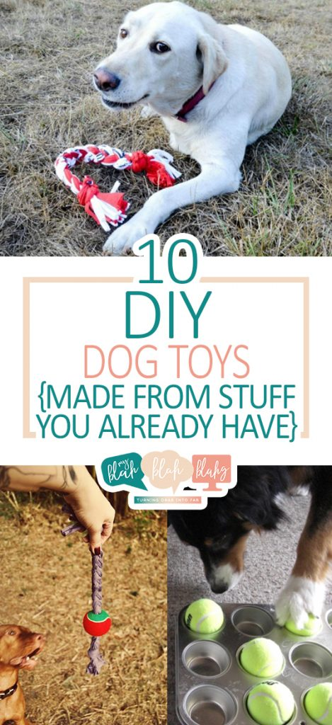 DIY Dog Toys, Dog Toy Projects, Make Your Own Dog Toys, How to