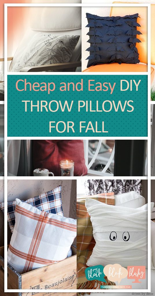 Fall Decor, DIY Fall Decor, Home Decor for Fall, Fall DIY, Fall Throw Pillows, Inexpensive Cheap Throw Pillows, Inexpensive Throw Pillows for Fall, Popular Pin