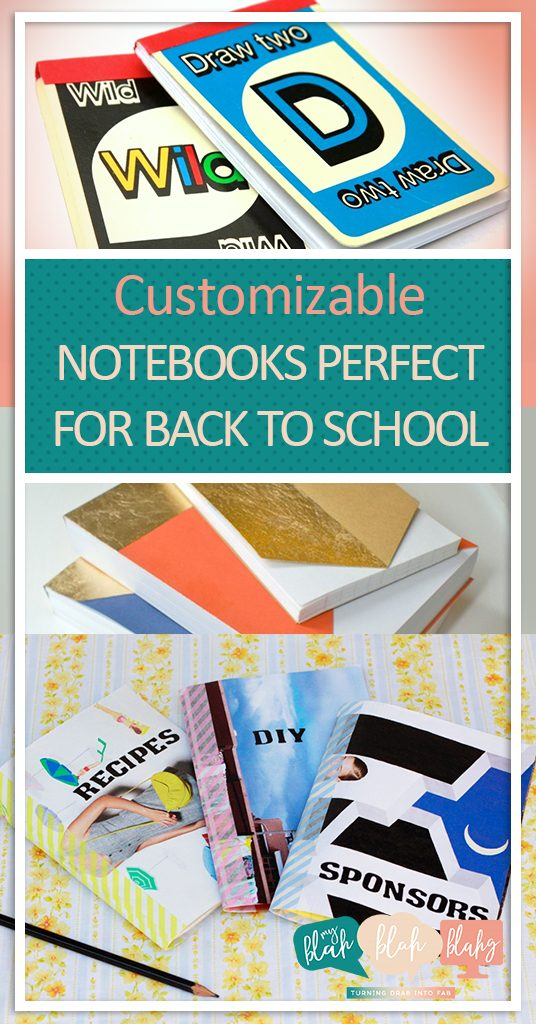 Customizable Notebooks Perfect for Back-to-School| DIY Notebooks, Back to School Notebooks, Make Your Own Notebooks, DIY Notebooks for School, How to Make Your Own Notebooks, Popular Pin, Back to School Crafts