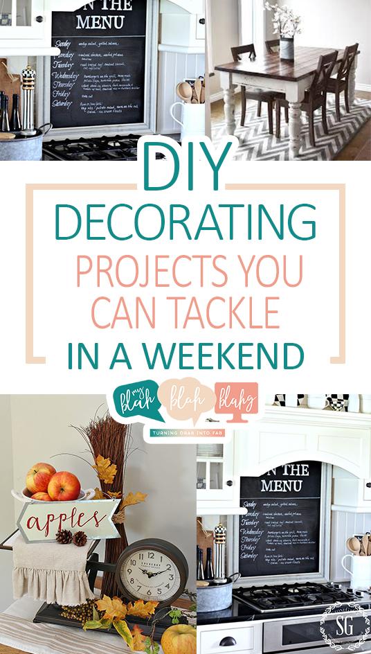 DIY Projects, Quick DIY Projects, DIY Decorating Projects, Decorating Projects You Can Do In a Weekend, Weekend DIY Projects, Quick Weekend Projects, Popular Pin