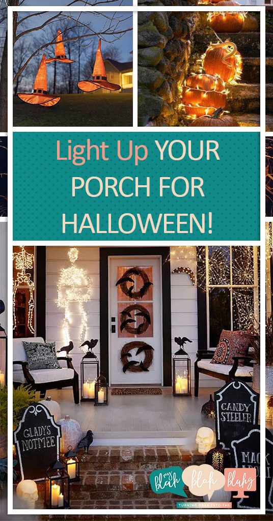 Halloween Porch Decor, DIY Porch Decor, Holiday Porch Decor, Halloween DIYs, Curb Appeal Projects, Curb Appeal Projects for Halloween, Halloween Projects, Popular Pin