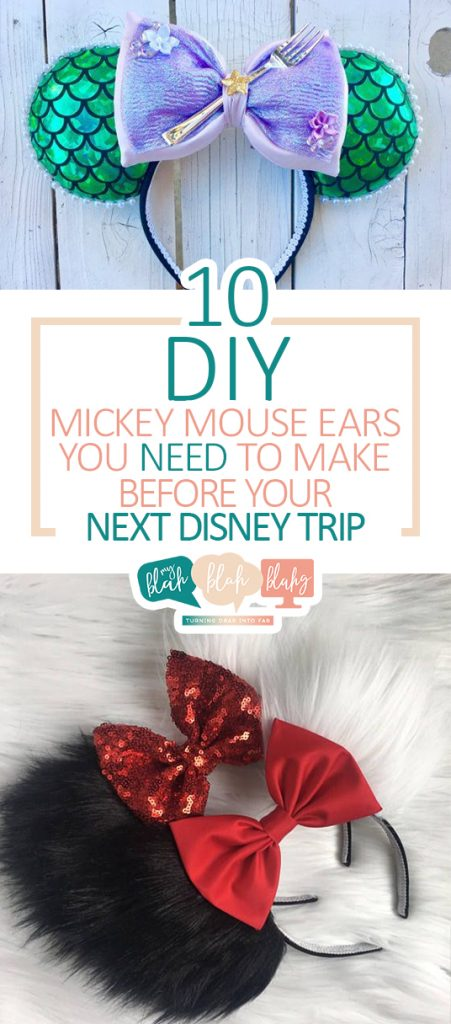 10 DIY Mickey Mouse Ears You NEED to Make Before Your Next Disney Trip  DIY Mickey Mouse Ears, DIY Projects, DIY Projects for Kids, Mickey Mouse DIYs, Mickey Mouse Craft Projects, Craft Projects for Kids, Popular Pin