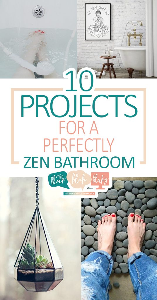 10 Projects for a Perfectly Zen Bathroom  Bathroom, Bathroom Projects, How to Make Your Bathroom More Zen, Zen Decor, Zen Decor for the Home, Projects for the Bathroom. #Bathroom #ZenBathroom #HomeDecor #HomeDecorProjects #DIYHome