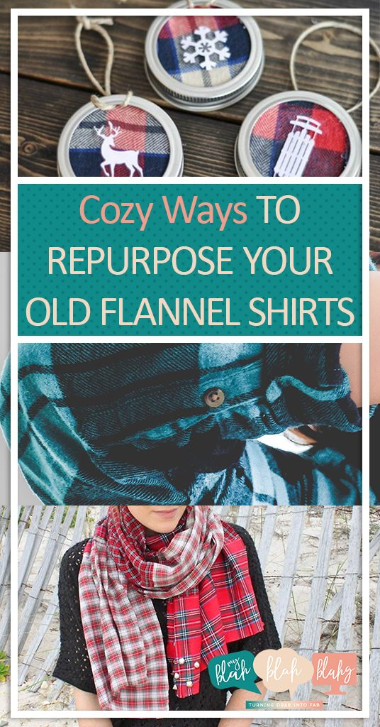 Cozy Ways to Repurpose Your Old Flannel Shirts| Old Flannel Shirts, how to Repurpose Old Flannel Shirts , Repurpose Projects, Repurpose Projects for the Home, How to Decorate With Flannel Shirts, Popular Pin