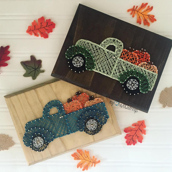 Easy String Art Projects For Fall String Art Crafts String Art