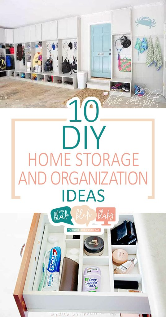 10 DIY Home Storage and Organization Ideas| Home Organization, Home Organization Tips, Home Storage Tips and Tricks, Home Organization and Storage, Organization Ideas, Home Storage Ideas #Organization #HomeStorage #HomeStorageIdeas