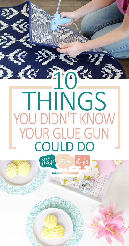10 Things You Didn't Know Your Glue Gun Could Do| Glue Gun, Glue Gun Projects, Home Projects, DIY Home Decor, DIY Glue Gun, Crafts, Craft Projects, Popular Pin #HomeDecor #DIYHomeDecor #GlueGun