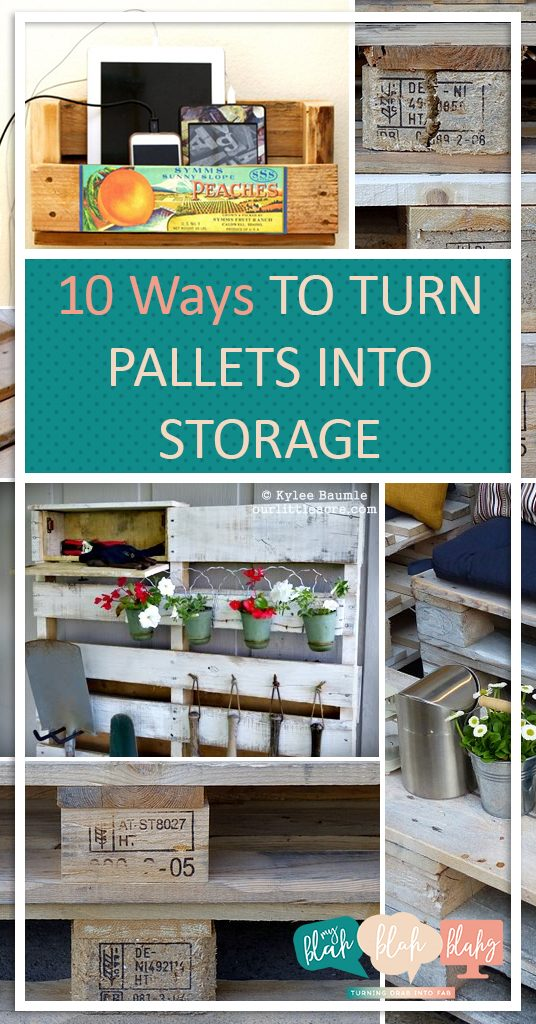 10 Ways to Turn Pallets Into Storage| Pallet Storage, Pallet Storage Projects, Storage, Home Storage Hacks, DIY Storage for the Home, Home Organization and Storage, Home Storage Hacks, Popular Pin #Storage #Organization #HomeOrganization