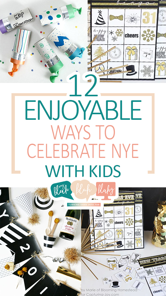 12 Enjoyable Ways to Celebrate NYE With Kids| New Years Eve Party Ideas, Party Ideas, Holiday Party, Holiday Party Ideas, NYE Kid Activities, Kid Stuff, Popular Pin #NewYearsEve #PartyIdeas #KidsStuff