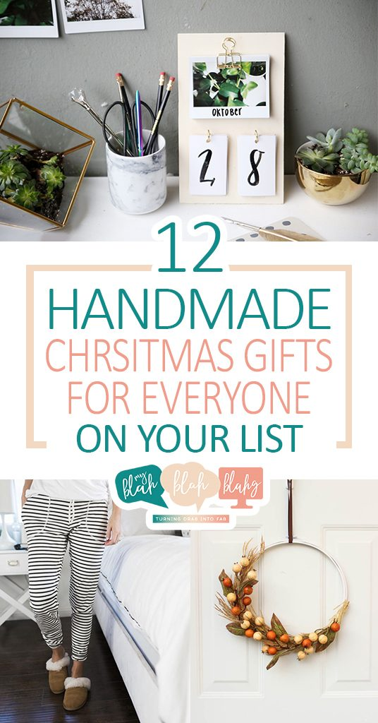 12 Handmade Christmas Gifts for Everyone On Your List| Christmas Gifts, Handmade Christmas Gifts, DIY Christmas Gifts, Holiday Gift Ideas, Inexpensive Holiday Gift Ideas, Gifts for Him, Gifts for Her, Gifts for Boys, Gift for Girls, Popular Pin #HolidayGifts #HandmadeGifts #DIYHandmadeGifts