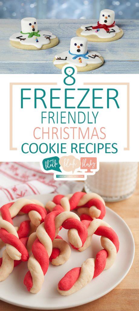 8 Freezer Friendly Christmas Cookie Recipes| Christmas Cookies, Christmas Cookie Recipes, Holiday Cookies, Holiday Cookie Recipes, Recipes, Christmas Recipes #CookieRecipes #ChristmasCookieRecipes #Recipes