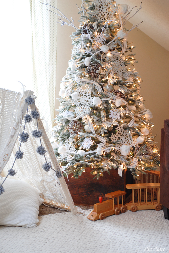 wrapping the ribbon around the tree is often best mid way through putting the ornaments on that way you can place if in between layers of decor