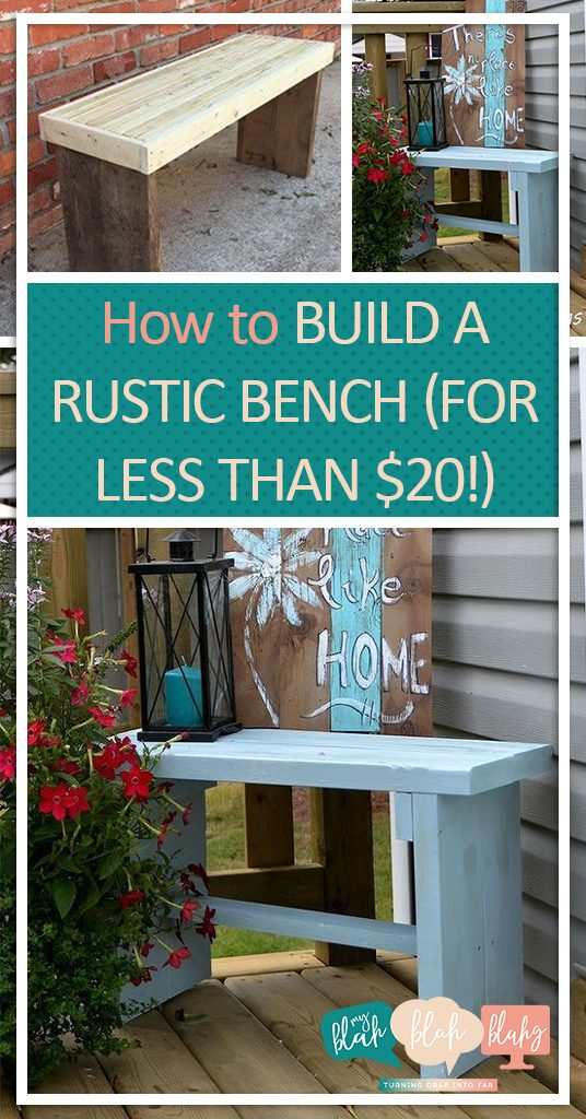 How to Build A Rustic Bench (For Less Than $20!)  DIY Bench, Rustic Bench, Rustic Bench Projects, DIY Home, DIY Furniture, Furniture Tutorials, Easy Tutorials, Do it Yourself #DIYHome #DIYFurniture
