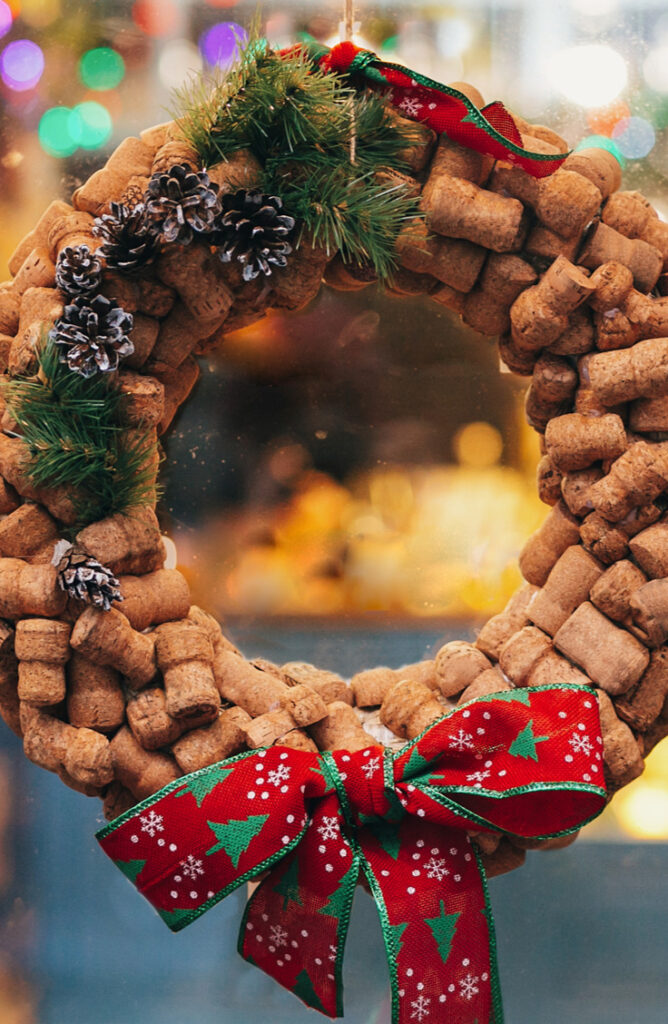 Create a unique and fun wreath made entirely of wine corks. From wreaths to ornaments to magnets, wine corks make great material for Christmas Crafts! Check out this list list of wine cork Christmas crafts!