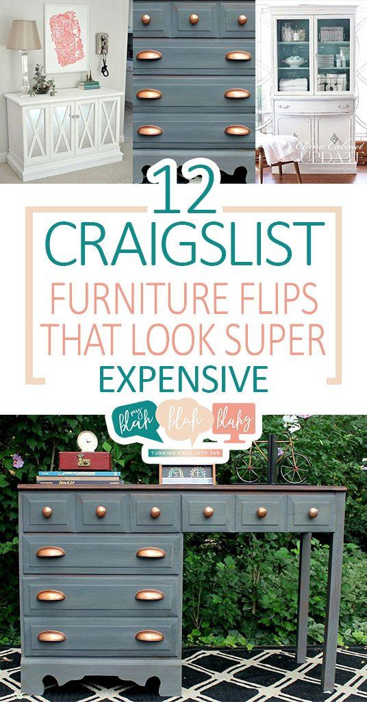 12 Craigslist Furniture Flips That Look Super Expensive| Furniture, Furniture Flips, DIY Furniture Flips, Craigslist DIYs, DIY Craigslist Hacks, Home Decor, Popular Pin #CraigslistDIYs #FurnitureFlips