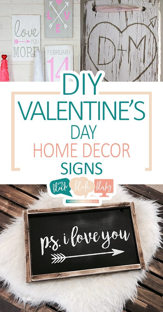 DIY Valentines Day Home Decor Signs| Valentines Day Home, Home Decor, Holiday Home Decor, DIY Valentines Day, DIY Holiday Home Decor, Holiday Home #DIYHoliday #ValentinesDay