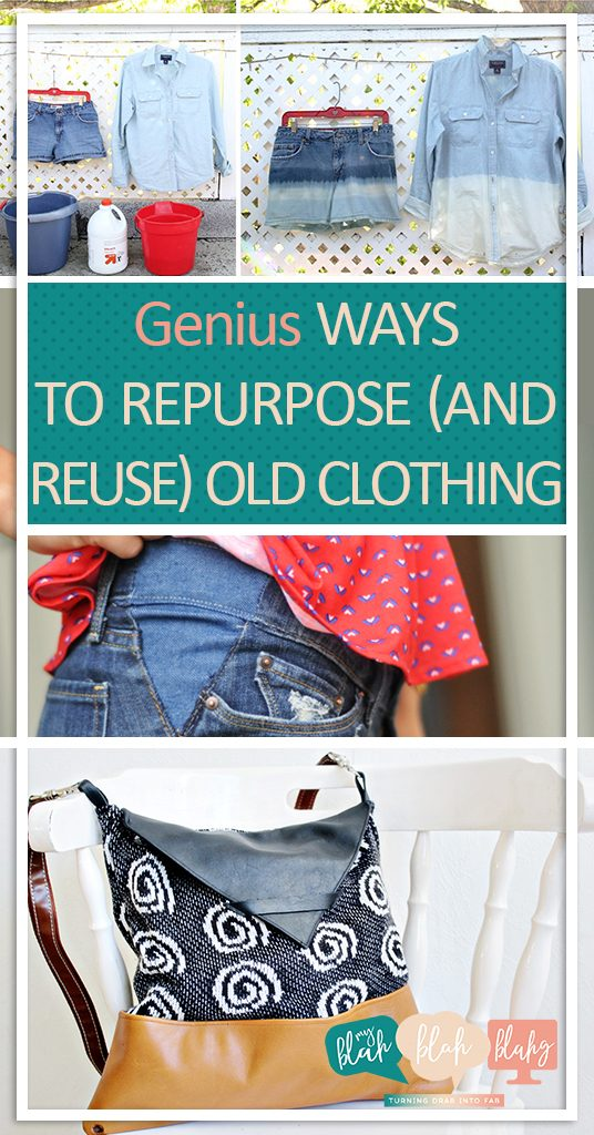 Genius Ways to Repurpose (and Reuse) Old Clothing| Reprupose Projects, Repurpose Crafts, Craft Projects, Crafts for the Home, Clothing Crafts, How to Reuse Old Clothing #Repurpose #Crafts