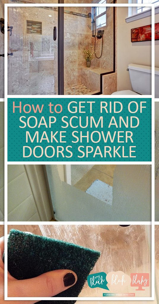How to Get Rid of Soap Scum and Make Shower Doors Sparkle| Cleaning, Cleaning Shower Doors, Cleaning Hacks, Home Cleaning Hacks, Remove Soap Scum, How to Remove Soap Scum. #SoapScum #Cleaning