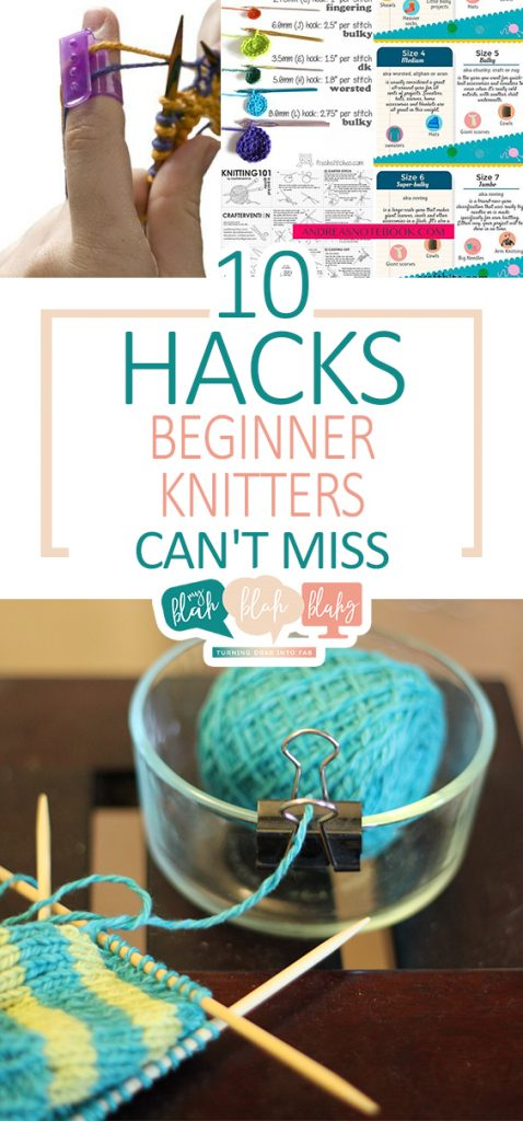 10 Hacks Beginner Knitters Can't Miss| Knitting, Knitting Hacks, Hacks for Knitters, DIY Knitting, Knitting Tips and Tricks, Life Hacks, Sewing Hacks, Sewing Projects, DIY Crafts, Craft Projects, Popular Pin #Sewing #Knitting #Crafts