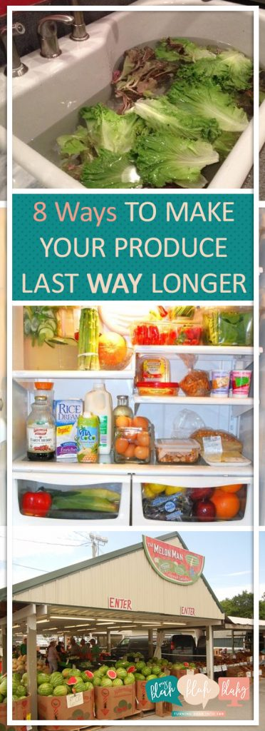 8 Ways to Make Your Produce Last WAY Longer| Produce, Produce Preservation, Groceries, Grocery Shopping, Produce Care, Popular Pin #ProduceCare #GroceryShopping