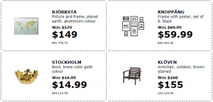 IKEA Home furnishings, kitchens, appliances, sofas, beds, mattresses.