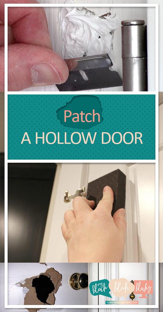 Patch a Hollow Door| Home Improvement, Home Improvement Hacks, DIY Home Improvement, Home Improvement Projects, Door Repair, How to Patch a Hollow Door, Door Repair, DIY Door Repair, Door Repair Hacks, Popular Pin #DoorRepair #DIYDoorRepair #DoorRepairHacks