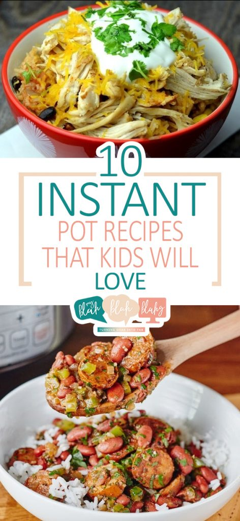 10 Instant Pot Recipes That Kids Will Love| Instant Pot, Instant Pot Recipes, Instant Pot Chicken,  Instant Pot Chicken Recipes, Instant Pot Recipes Healthy Family #InstantPotRecipesHealthyFamily #instantpot #InstantPotRecipes