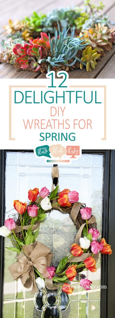12 Delightful DIY Wreaths for Spring| Spring, DIY Spring, DIY Spring Wreaths, Easy Spring Wreaths, DIY Porch, DIY Porch Decor, Porch Decor Projects, Easy Porch Decor, Popular Pin #Spring #Porch #DIYWreath