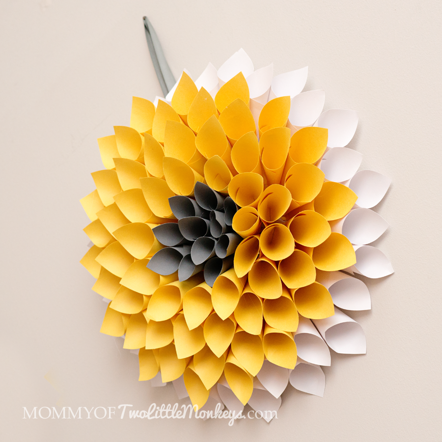 Paper Yellow Wreath