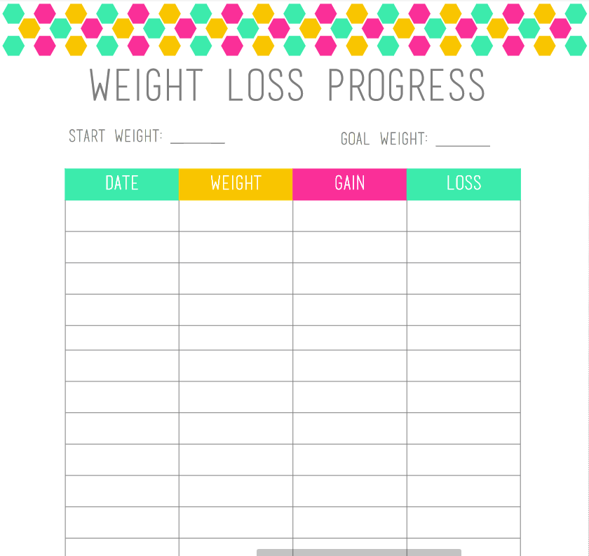Weight Loss Tracker Pdf Powered By Box