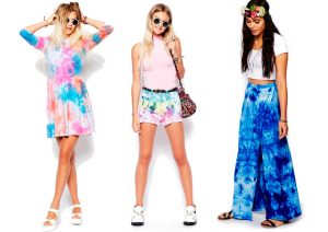 Tie Dye dress, shorts and skirt,