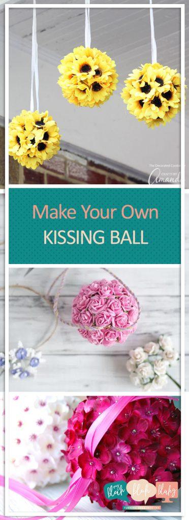 """Make Your Own """"Kissing Ball""""  Kissing Ball, DIY Kissing Ball, Kissing Balls Wedding, Crafts, Easy Crafts, DIY Crafts, DIY Kissing Balls Wedding"""