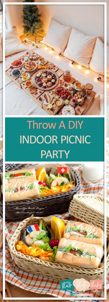 Throw A DIY Indoor Picnic Party| Picnic Party, Picnic Food Ideas, Picnic Ideas, Party Ideas, Picnic Party Ideas,  Picnic Party Ideas Kids