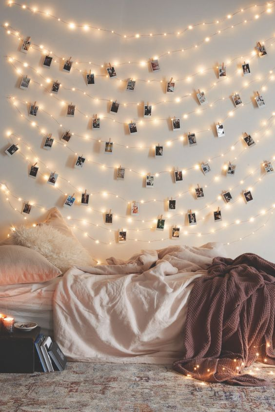 8 Ways to Decorate With String Lights | String Lights DIY, String Lights Decor, String Lights in the Bedroom, STring Lights Living Room, Home Decor, Home Decor Ideas
