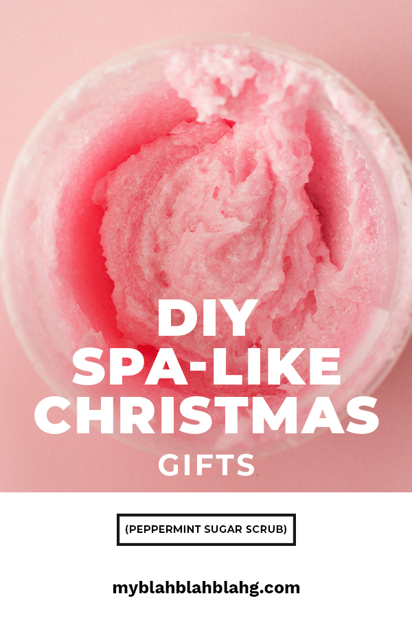 Christmas is all about giving and if you want to give something that someone will really appreciate, take a look at this DIY Spa-like gift. A peppermint sugar scrub will delight everyone with it's Christmas fragrance. Take the time to show someone how much you love them by making a homemade gift. From the hands and heart trumps any store bought gift. For more info about this scrub, keep reading. #DIYpeppermintsuggarscrub #DIYholidaygifts #DIYspalikegifts