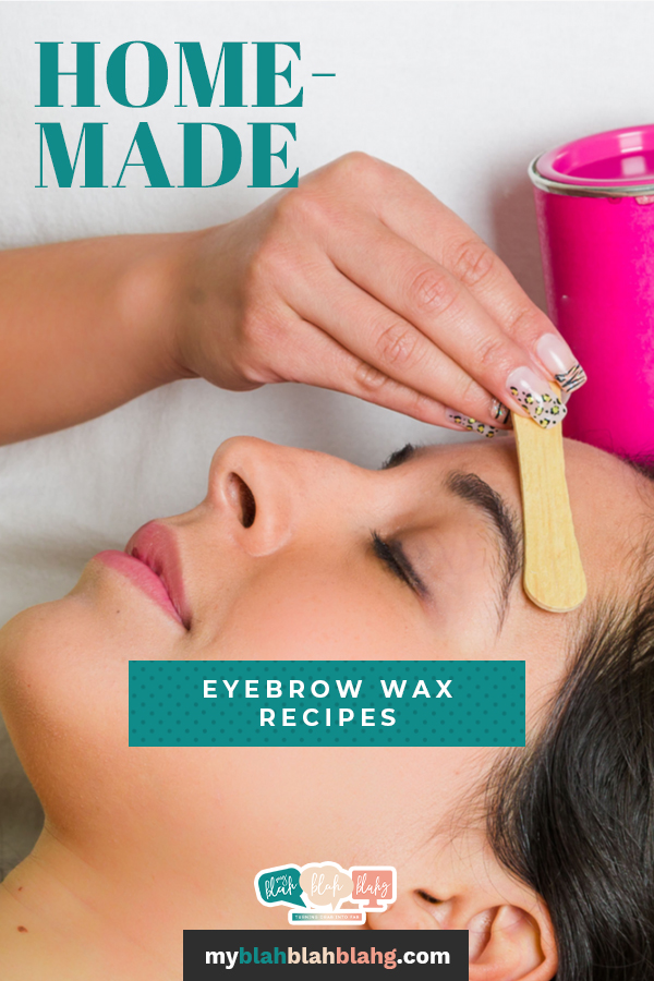 Honey it's time to whip those brows back into submission using one of these homemade eyebrow wax recipes! #myblahblahblahg #homemadeeyebrowwaxrecipe #homesaloneyebrowwax #sugarhoneylemonwaxrecipe